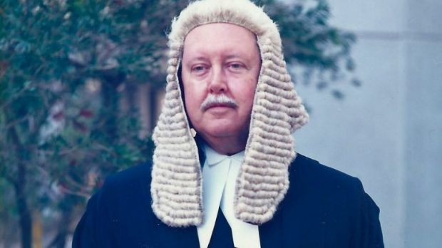 Queen's Counsel: Malcolm Broun in his judge's wig.