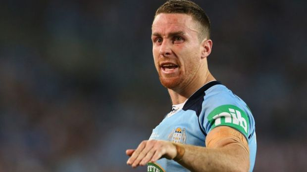 Selection battle: Incumbent James Maloney is no certainty to start as the Blues No.6.