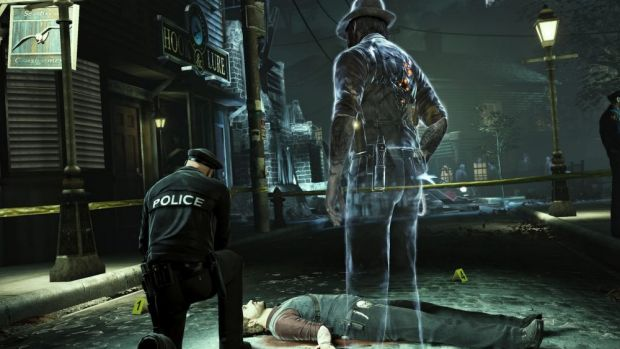 A different twist to a crime-solving game in Murdered: Soul Suspect.