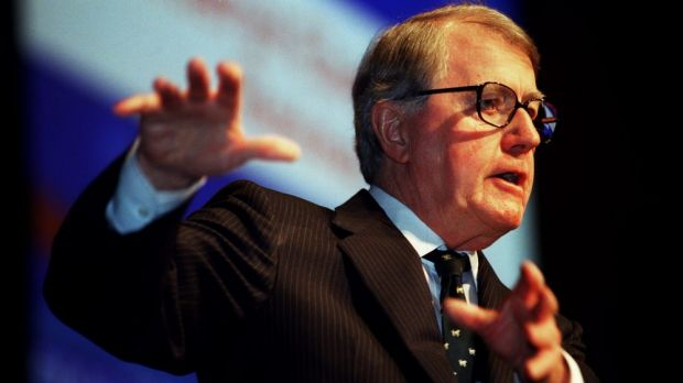 """Neville Wran: """"His time as a great statesman must be remembered - beyond political factions""""."""