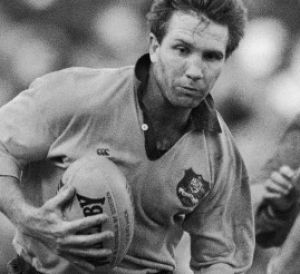 Not backing down: Greg Martin during his playing days for the Wallabies.