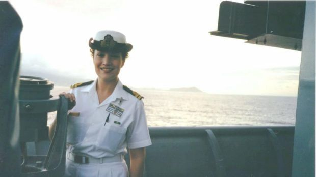 Tamara Harding, while serving in the navy