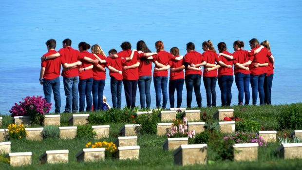Goondiwindi High School at Ari Bumu cemetary in Gallipoli.
