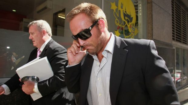 Infamous incident: Ryan Tandy leaves Sydney's City Central Police Station in February 2011.