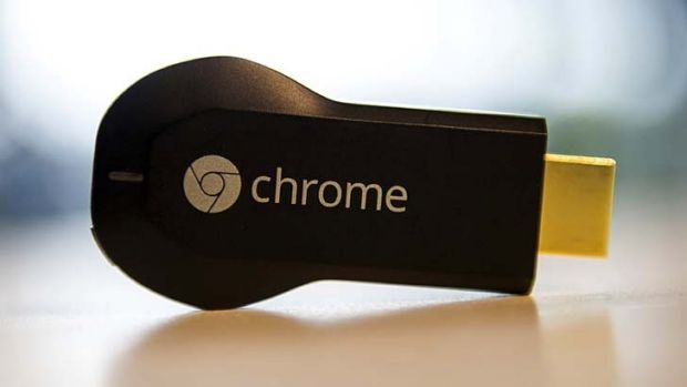Google's Chromecast streaming media player, which now works in Australia with Foxtel Presto, EzyFlix and Quickflix.