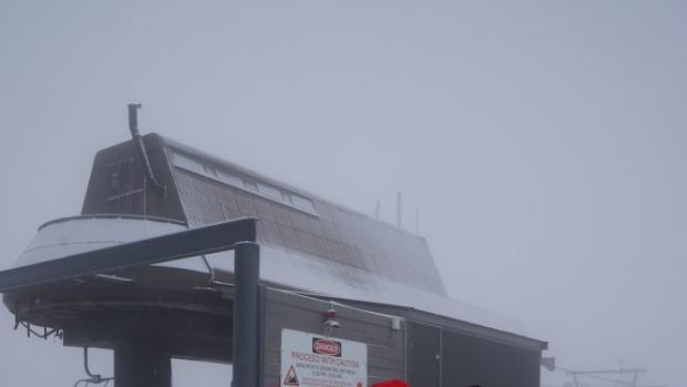 Getting snow ready: Making the most of the early falls at Thredbo.