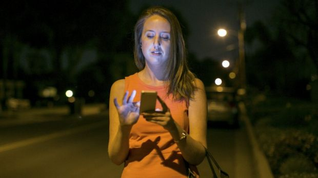 Risky business: California resident Sarah Maguire, who used a GPS app to track down her stolen phone.