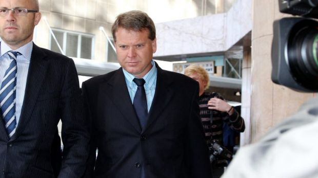 Nathan Tinkler's Buildev partner Darren Williams arrives at the ICAC this morning.