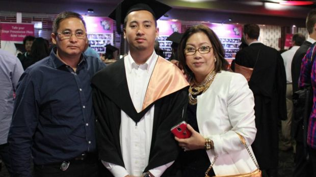 Raynor Manalad, centre, who died after he was punched at a party at Rooty Hill in 2014.