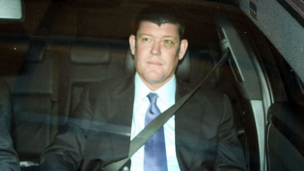 James Packer sports a black eye after the fight.