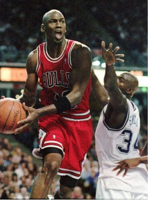 The Greatest of All Time: Michael Jordan in action for Chicago in 1996.