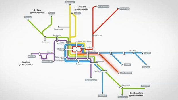 Train infrastructure map.
