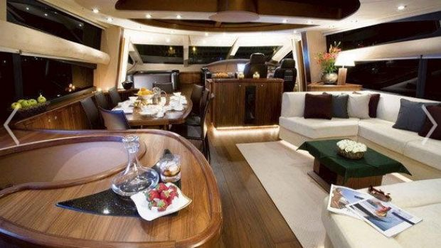 Inside the Gazals' luxury yacht Octavia, which hosted Chris Hartcher.
