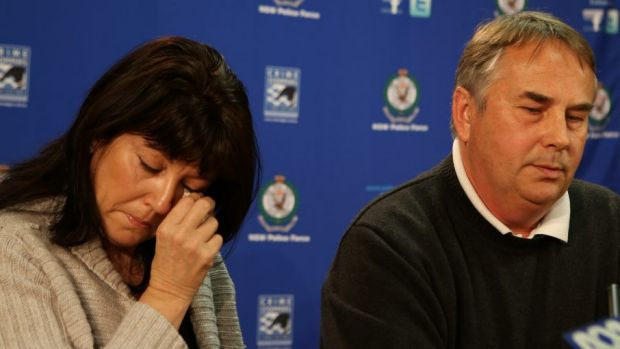 Thomas Kelly's parents, Ralph and Kathy, at a press conference after their son's death.
