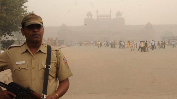 Pollution in New Delhi: not very welcoming.