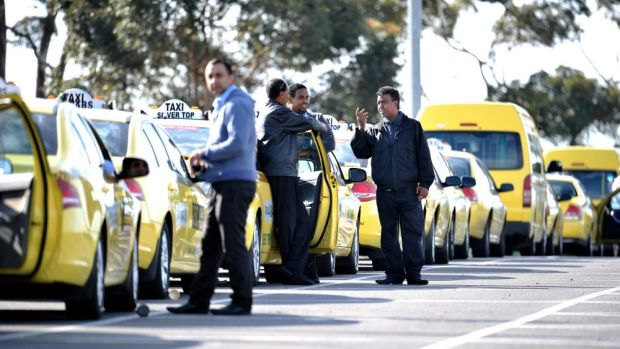 Taxi companies are unhappy about the spread of services apps such as Uber.