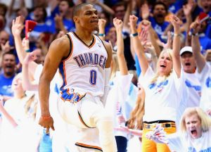 Drawcard: Thunder guard Russell Westbrook.