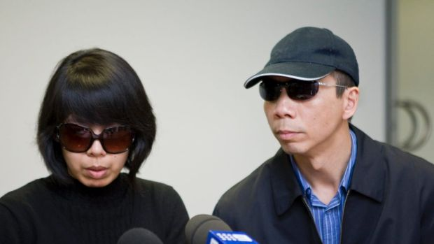 "Lian Bin ""Robert"" Xie and his wife, Kathy Lin, in a file picture."