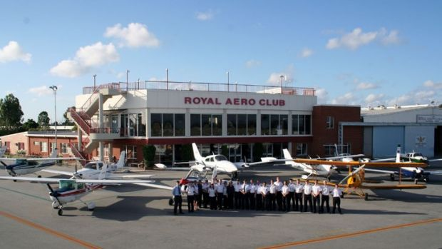 Group of students from the Western Australian Aviation College who are training to be pilots.