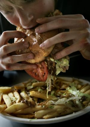 Data released by the George Institute for Global Health has also revealed Australians are eating vastly larger portions ...