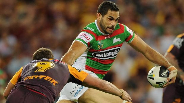 Blockbuster: Greg Inglis and the Rabbitohs will take on the Broncos in Brisbane in the NRL season opener.