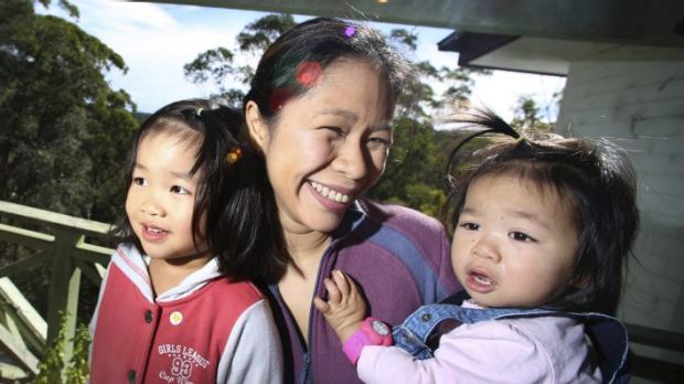 Concern: Soo Quan with Sarah and Zoe at their Hornsby home. The veterinarian is against the government's planned upfront ...