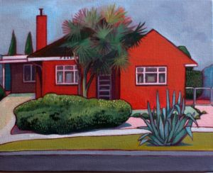 Paintings from Thea Katauskas' exhibition <i>Lawnscapes -Portraits of Canberran houses</i>. 21 Westgarth Street.