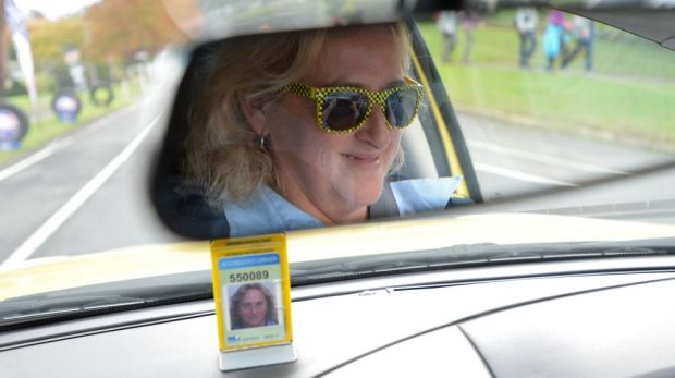 Jen Ashton on the job in her Freedom by Design taxi.