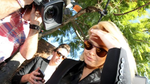 """Your driving record is very poor"": Lara Bingle arrives at Waverley Local Court for sentence."