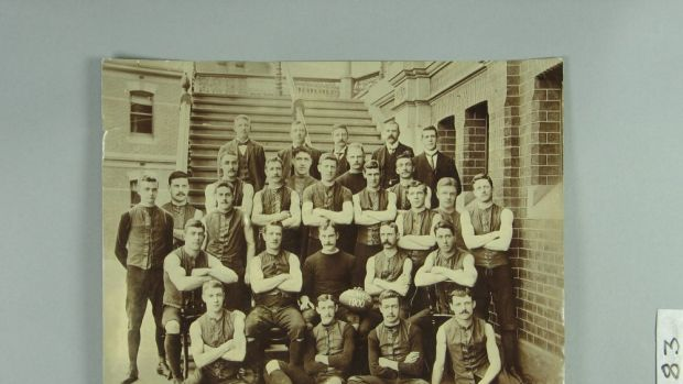 Melbourne Football Club team photo, 1900. A Demons jumper,  worn in the 1900 Grand Final by Austin ''Goosey'' Lewis, is ...