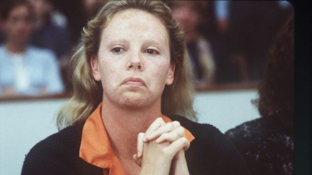 Charlize Theron as the serial killer Aileen Wuornos in 'Monster'.