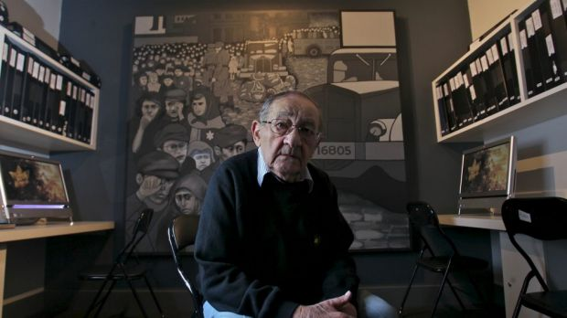 Moshe Fiszman at the Holocaust Museum in Elsternwick.