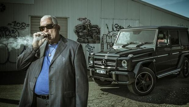 Mick Gatto and the Mercedes in his sights.