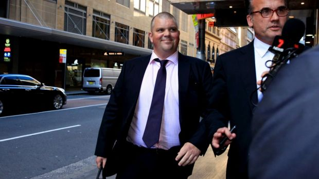 Nathan Tinkler arrives for ICAC this afternoon.