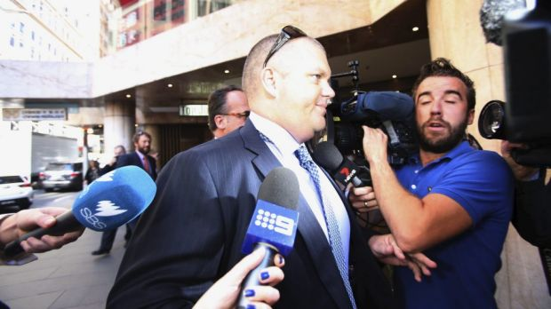 Nathan Tinkler arrives to give evidence at ICAC on Friday.