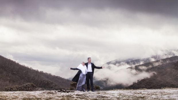 Martin and Sandra Fisk at Dead Horse Gap, Thredbo.