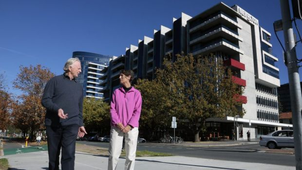 New Acton South resident Roger Smith and New Acton East resident Maureen Hay are after a more reasonable approach by ...