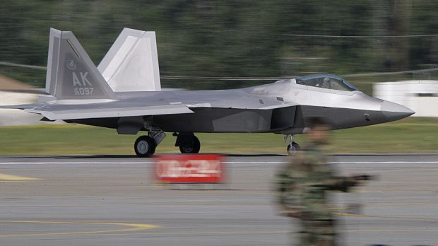 The prosthetic fin is modelled on the wings of Lockheed Martin's F-22 Raptor warplane, a US fighter jet