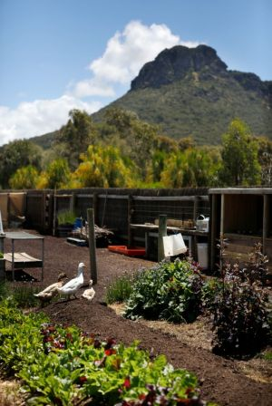 The kitchen garden at the Royal Mail Hotel, Dunkeld.