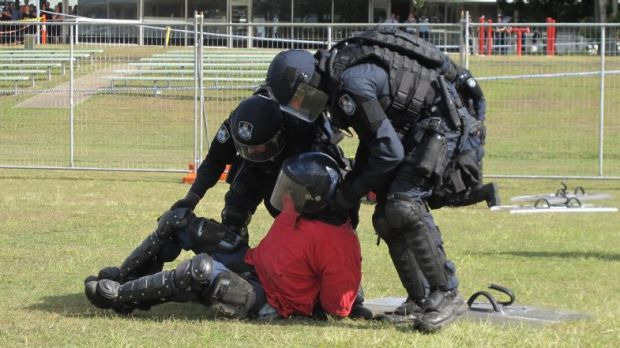 Police practise dealing with protesters ahead of G20.