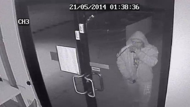 CCTV footage of a burglary at Pure Gelato Mitchell.