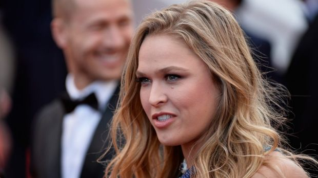 Glammed up: Ronda Rousey was a surprise guest at the Marine Corps Ball.