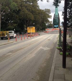 Pictures reveal trucks entering and exiting the Elizabeth Quay development site, which contains contaminated soils,  are ...