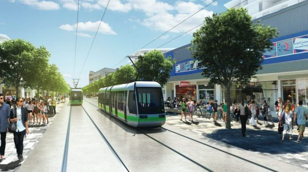 """The costs of relocating underground pipes and wires for the Capital Metro project along Northbourne Avenue """"are very ..."""