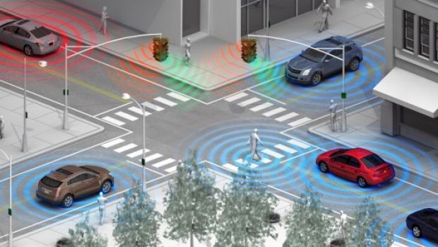 Crash-avoidance technology uses sensors to detect objects.
