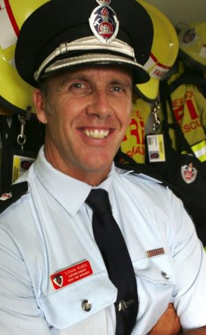 'Mate': Steve Pearce, pictured before he joined the SES.