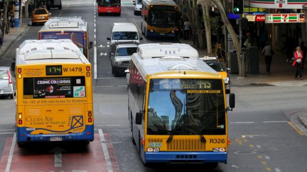 Fatter passengers means bigger strain on our buses, like these in Brisbane.
