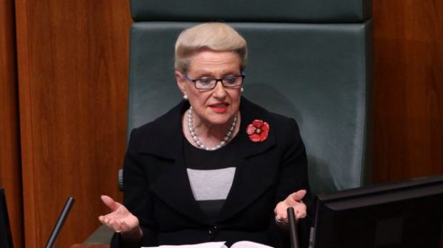 Bronwyn Bishop's overt partisanship as Speaker is a smack in the mouth for the 46.5 per cent of the electorate who ...