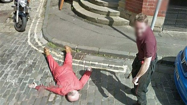 Dan Thomson and Gary Kerr had decided to take advantage of the Google Street View camera and posed for the picture when ...