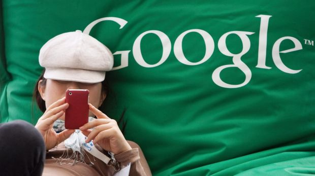 Falling behind: Google's share of the mobile search market is set to drop.